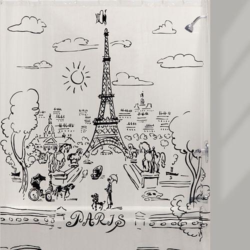 Creative Bath Paris Days PEVA Shower Curtain