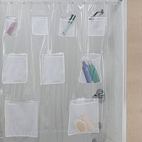 Creative Bath Pockets Vinyl Shower Curtain