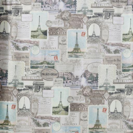 Creative Bath Travelers Journal Fabric Shower Curtain