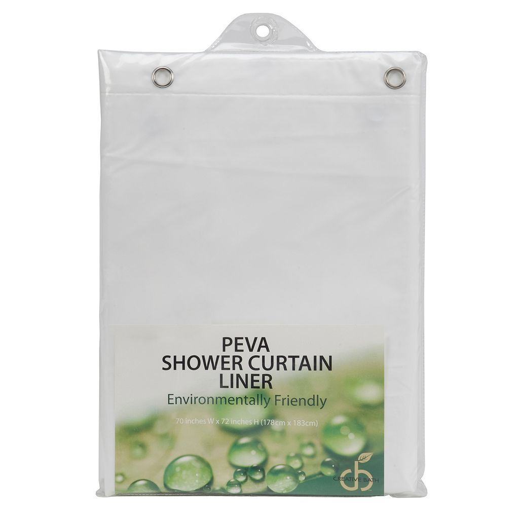 Creative Bath PEVA Shower Curtain Liner