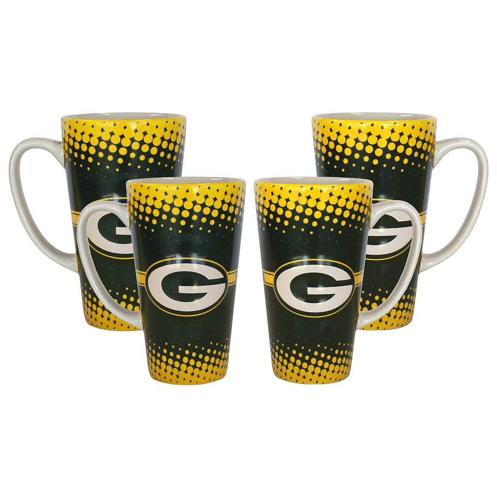 Green Bay Packers 4-Pack Coffee Mug Set