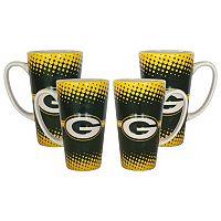 Green Bay Packers 4-Pack Coffee Mug Set
