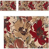 KHL Rugs 3 pc Laguna Floral Rug Set