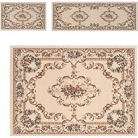 KHL Rugs 3 pc Laguna Floral Medallion Rug Set