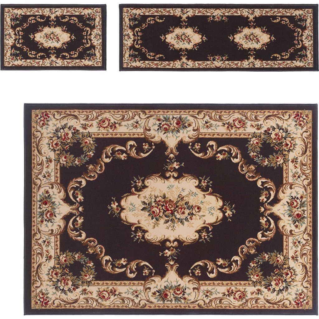 KHL Rugs 3-pc. Laguna Floral Medallion Rug Set