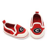 Baby Georgia Bulldogs Crib Shoes