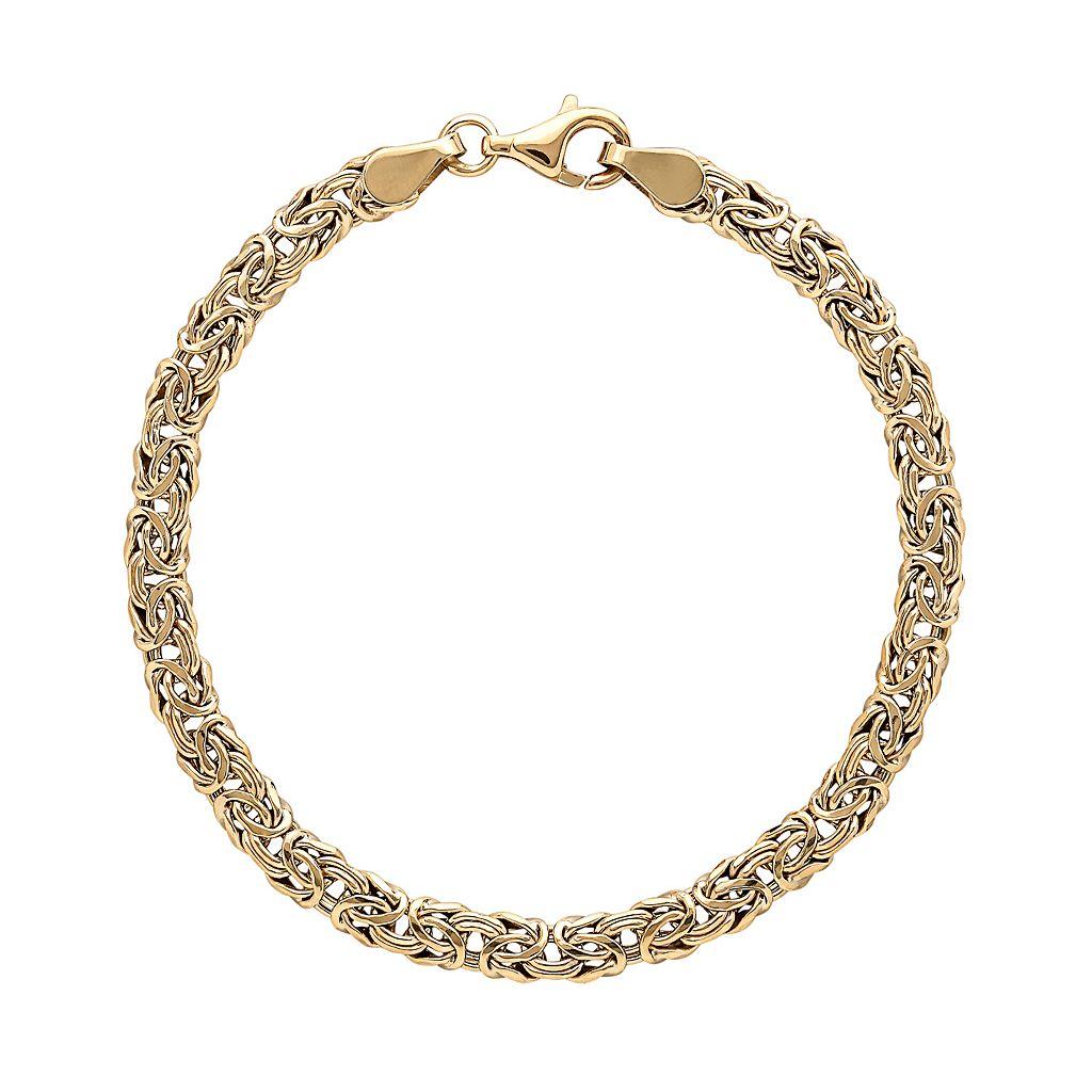 Everlasting Gold 10k Gold Byzantine Chain Bracelet - 7.25-in.