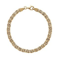 Everlasting Gold 10k Gold Byzantine Chain Bracelet - 7.25-in.