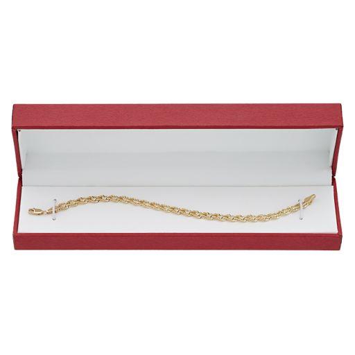 Everlasting Gold 10k Gold Double Rope Chain Bracelet - 7.5-in.