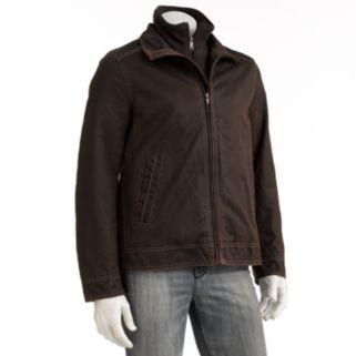 Men's Excelled Garment-Washed Bomber Jacket