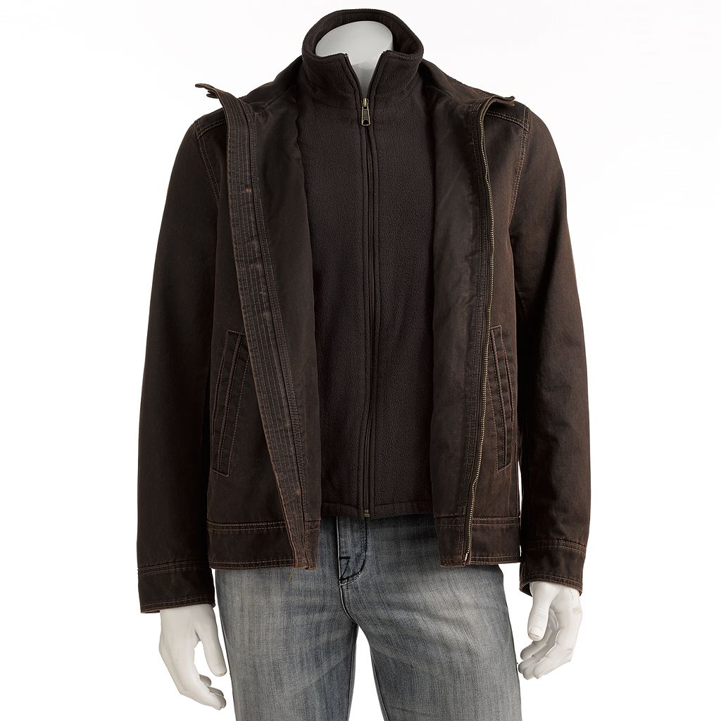 Men's Excelled Garment-Washed Bomber Jacket