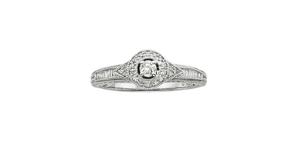 Diamond Rings For Sale Kohls: Round-Cut Diamond Halo Engagement Ring In 10k White Gold