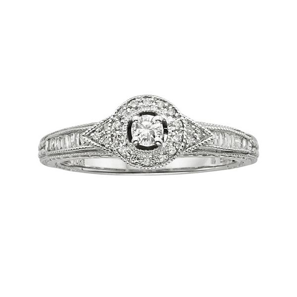Kohls Diamond Frame Engagement Ring In 10k White Gold 1 Ct TW Questions Answers How