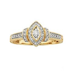 Round-Cut Diamond Engagement Ring in 10k Gold (1/4 ctT.W.)