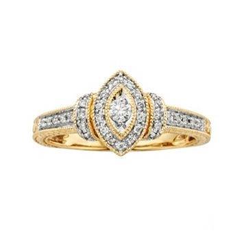 Round-Cut Diamond Engagement Ring in 10k Gold (1/4 ct. T.W.)