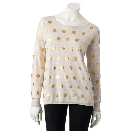 Women's LC Lauren Conrad Foil Dot Sweater