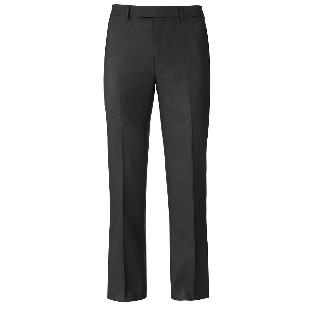 Men's Apt. 9® Slim-Fit Sharkskin Flat-Front Dress Pants