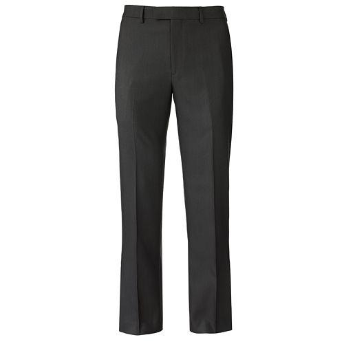 Men's Apt. 9® Slim-Fit Sharkskin Flat-Front Dress Pants