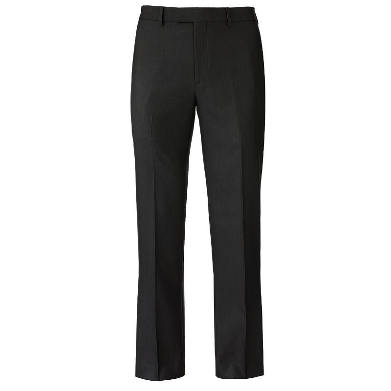 Apt. 9® Slim-Fit Sharkskin Flat-Front Dress Pants - Men