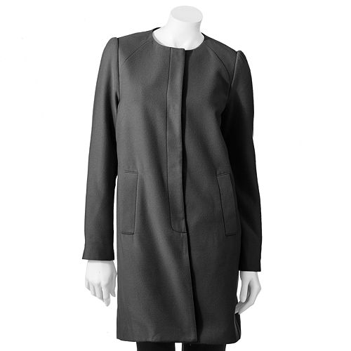 Women's ELLE™ Solid Collarless Coat