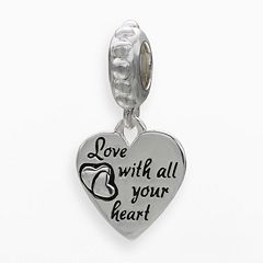 Individuality Beads Sterling Silver 'Love' Heart Charm