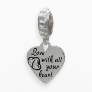 Individuality Beads Sterling Silver Love Heart Charm