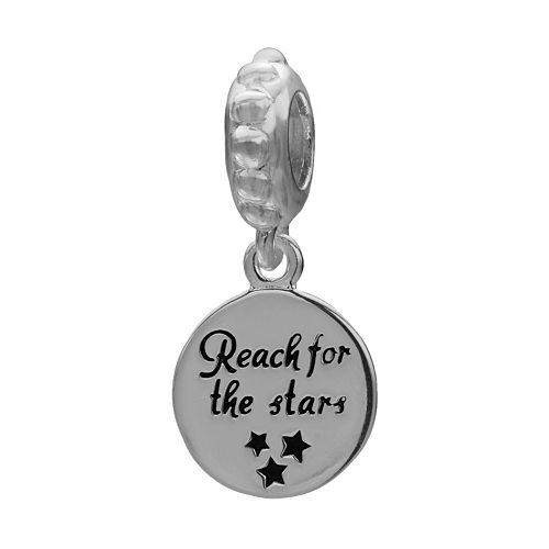 "Individuality Beads Sterling Silver ""Reach for the Stars"" Charm"