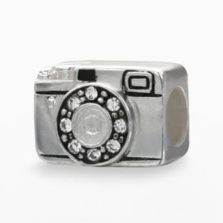 Individuality Beads Sterling Silver Crystal Camera Bead