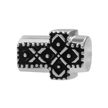Individuality Beads Sterling Silver Sideways Cross Bead