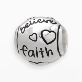 Individuality Beads Sterling Silver Believe Faith Love Bead