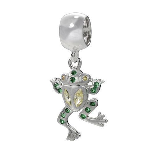 Individuality Beads Sterling Silver Crystal Frog Charm