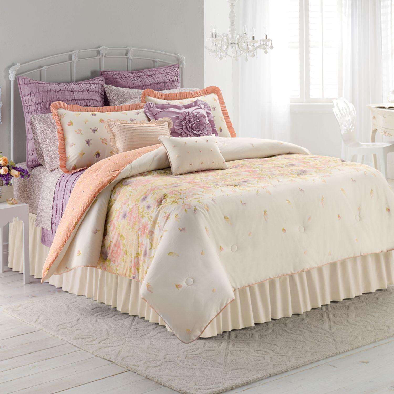 lc lauren conrad garden bloom 3 pc reversible comforter