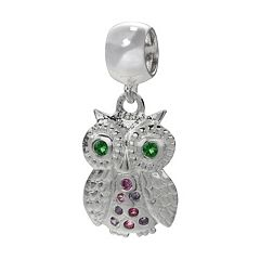 Individuality Beads Sterling Silver Crystal Owl Charm