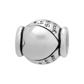 Individuality Beads Sterling Silver Friend Heart Bead