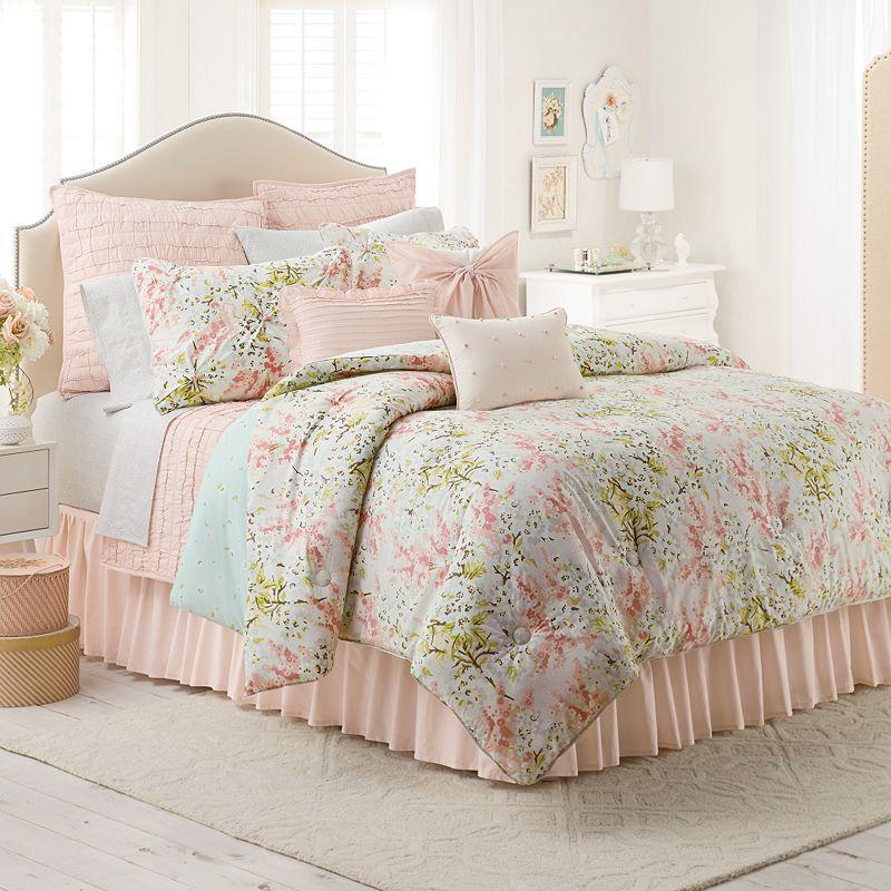 lc lauren conrad lily 3 pc reversible comforter set king cal king