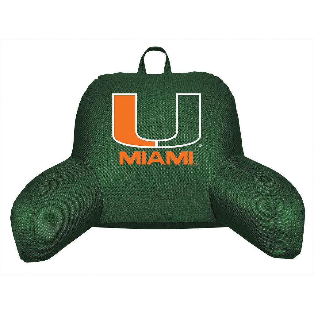 Miami Hurricanes Sideline Backrest Pillow