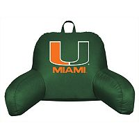 Miami Hurricanes Sideline Backrest Pillow