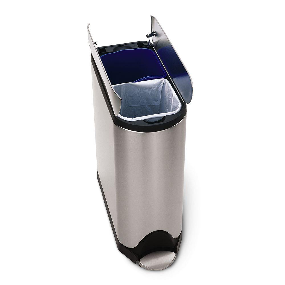 simplehuman Butterfly 10.6-Gallon Step Recycler