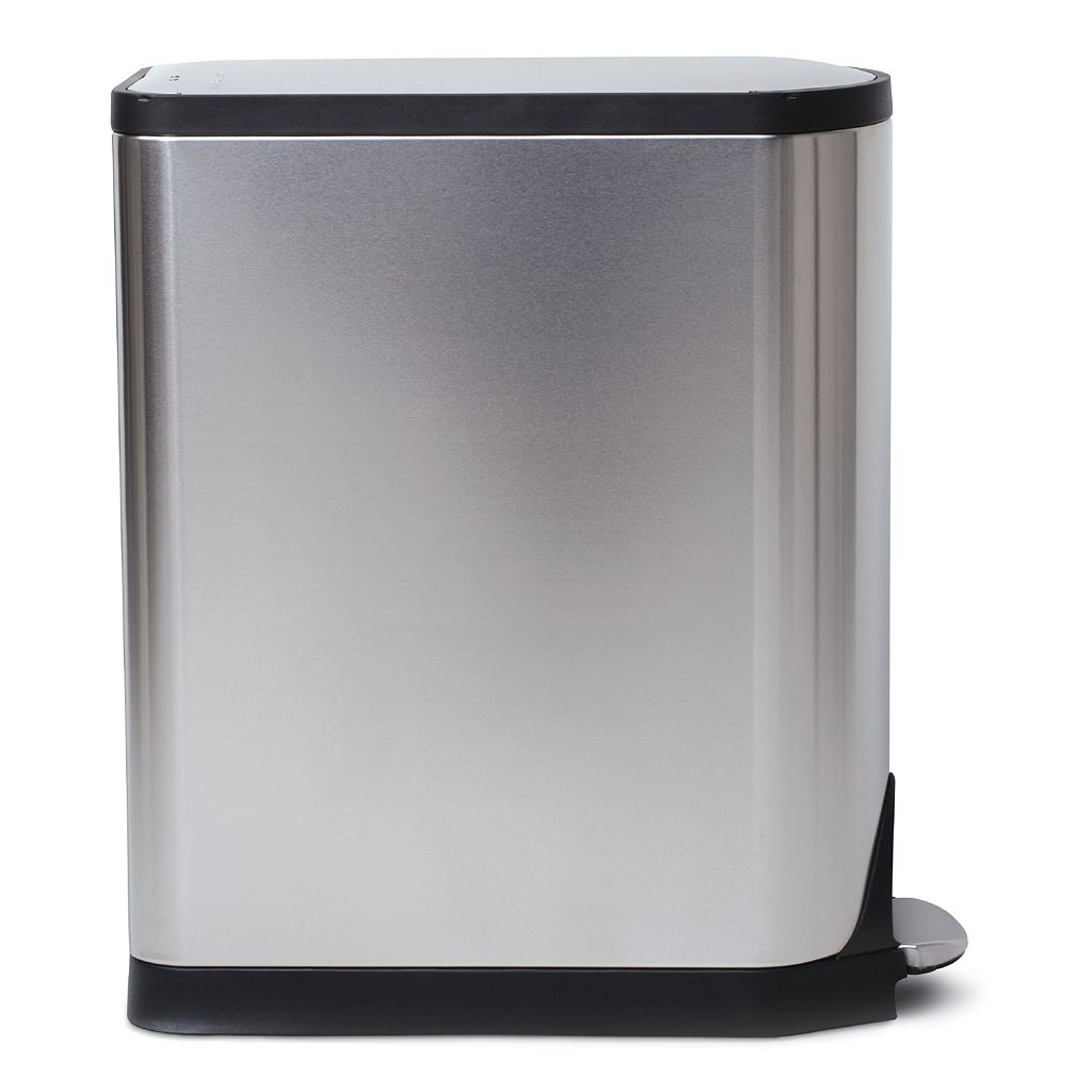 simplehuman Butterfly 10.6-Gallon Step Recycler