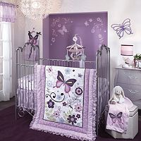Lambs & Ivy Butterfly Lane 5-pc. Crib Bedding Set