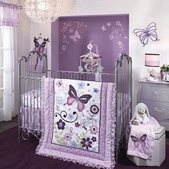 Lambs & Ivy Butterfly Lane 5 pc Crib Bedding Set
