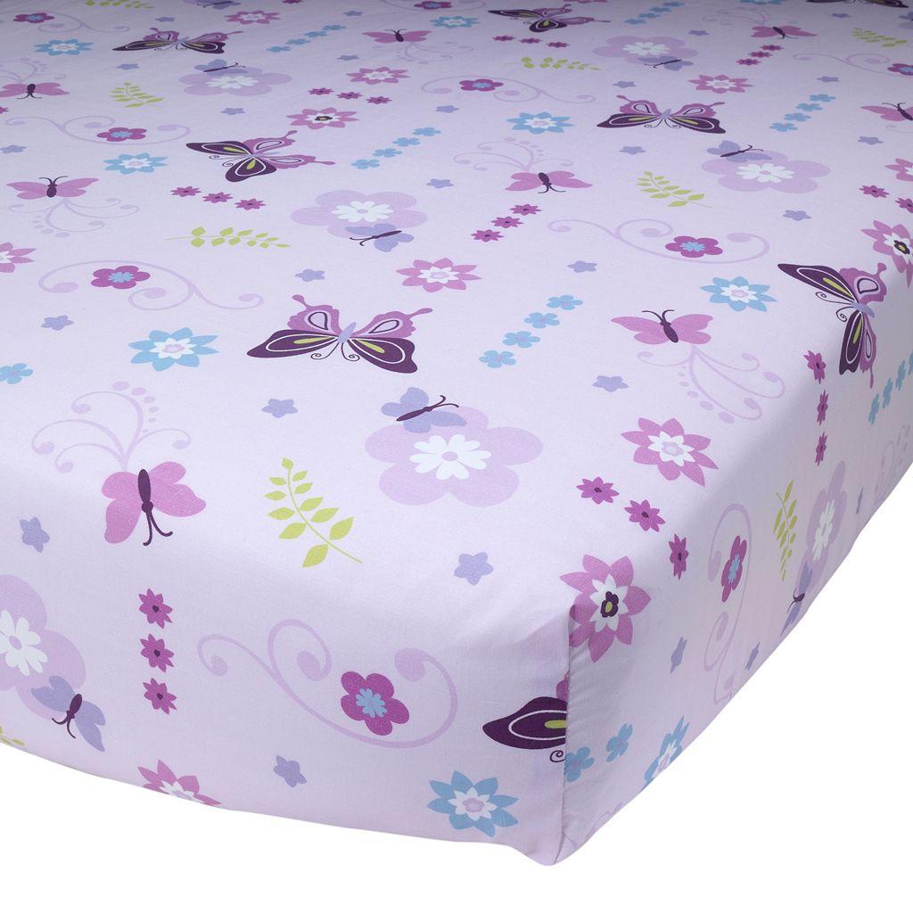Lambs & Ivy Butterfly Lane Crib Sheet