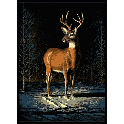 "United Weavers Legends Winter Buck Rug - 5'3"" x 7'2"""