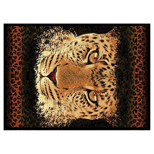 "United Weavers Legends Leopard Eyes Rug - 5'3"" x 7'2"""