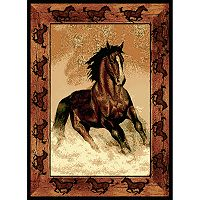 United Weavers Legends Stallion Border Rug - 5'3