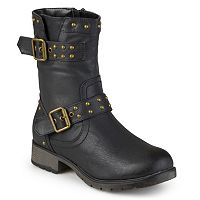 Journee Collection Aquata Women's Midcalf Moto Boots