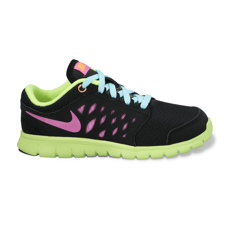 Nike Black Flex Run Running Shoes - Pre-School Girls