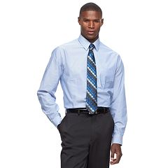 Men's Arrow Classic-Fit Fineline-Striped Wrinkle-Free Dress Shirt