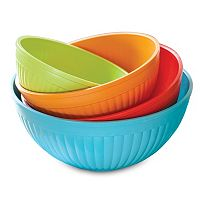 Nordic Ware Prep & Serve 4 pc Multicolor Mixing Bowl Set