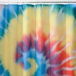Bright Tie Dye Fabric Shower Curtain